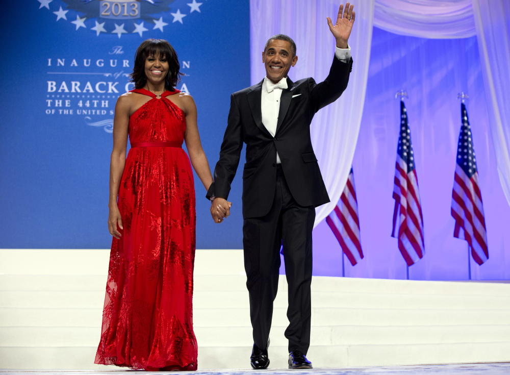 President Obama and first lady Michelle Obama at an Inaugural Ball at the Washington Convention Center in Washington, during the 57th Presidential Inauguration. His job approval ratings have taken a hit, along with those of members of Congress.