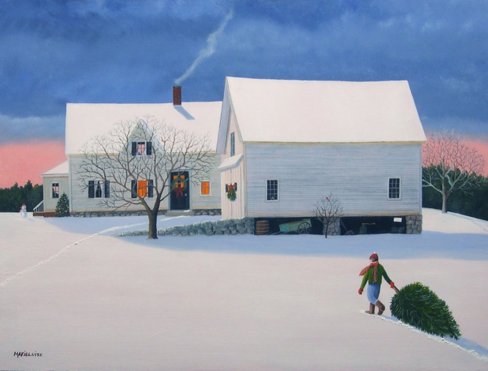 "A painting called ""The Perfect Tree,"" based on a scene in Owls Head, exemplifies the work of Marieluise Hutchinson, whose work captures the essence of the New England she recalls from the 1940's and '50s."
