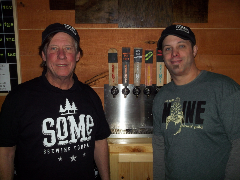 Dave, left, and son David Rowland, partners in the new SoMe Brewing Co.