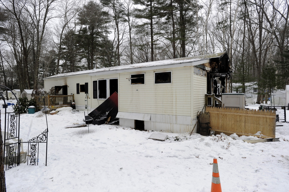 Richard Peacock and his wife Diane lost their home in Freeport to fire on Christmas Eve.