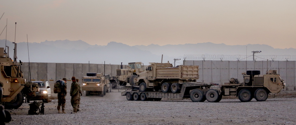 Units in the 41-truck convoy from FOB Shank arrive safely at Bagram Air Field in the early morning of Dec. 24. The next day, it was reported that an unexploded IED was found along the convoy's route just an hour or two after it had passed.
