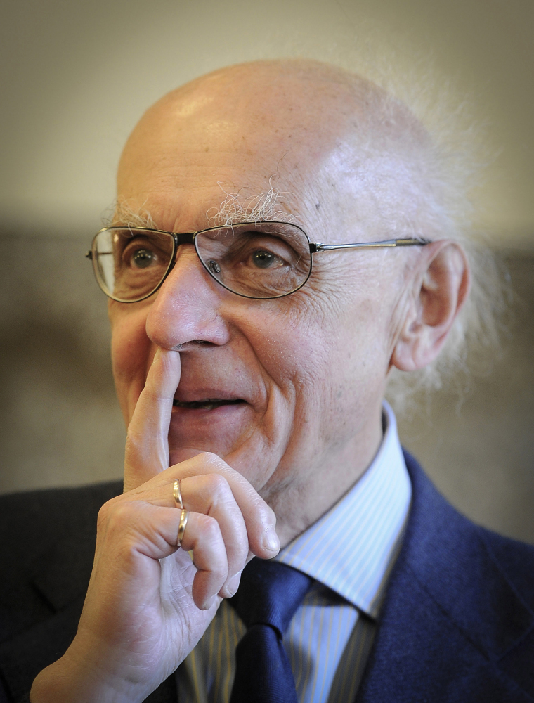 """In this May 6, 2011 file photo Polish pianist and composer Wojciech Kilar is pictured in Katowice, Poland. Kilar, who wrote classical music works and scores for many films, including Roman Polanski's Oscar-winning """"The Pianist"""" and Francis Ford Coppola's """"Bram Stoker's Dracula,"""" died Sunday. He was 81."""