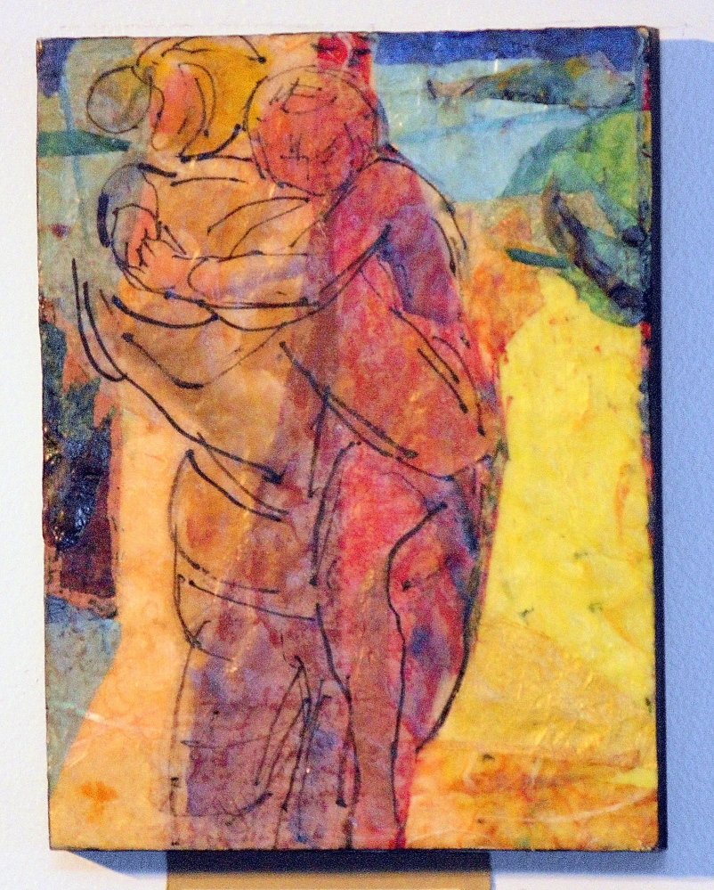 """""""Carry Me To The Sea"""" is one of the encaustic paintings in Wendy Newbold Patterson's exhibit."""