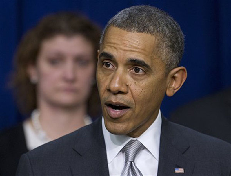 """President Obama speaks about the new health care law earlier this month in Washington. The Obama administration announced Thursday that consumers with a canceled health plan can claim a """"hardship exemption"""" if they think the plans sold through new federal and state marketplaces are too expensive."""