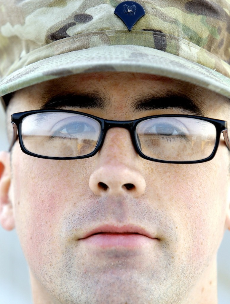 Spc. Zachary Cox of Portland, photographed Tuesday, December, 31 2013 for soldier profiles.