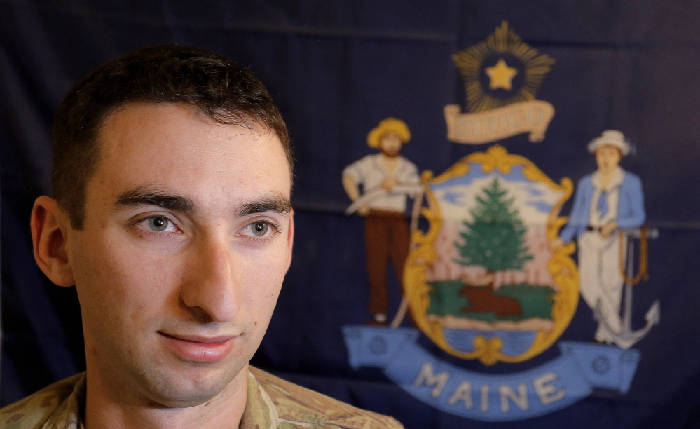 Lt. Jonathan Bratten, company historian of the 133rd Engineer Battalion of the Maine Army National Guard, plans to produce a unit yearbook for each soldier that captures the human side of their deployment.