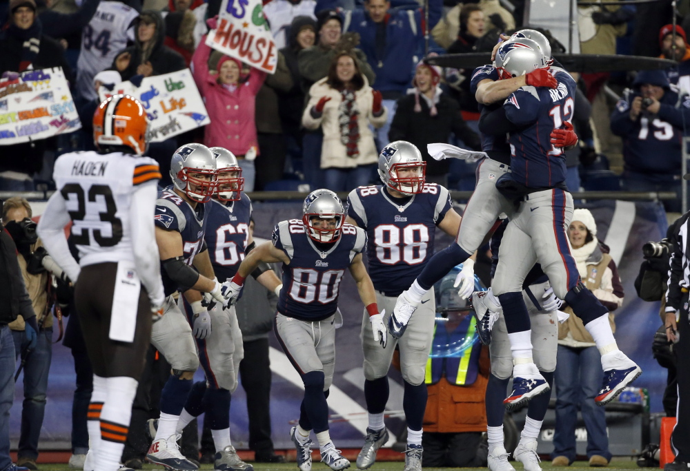 It's gotten to be a pleasant sight around Foxborough, Mass., this season, watching quarterback Tom Brady and his teammates celebrating after pulling off one of those how-did-they-do-it victories. This one was against Cleveland. Indianapolis could be a victim Saturday night.