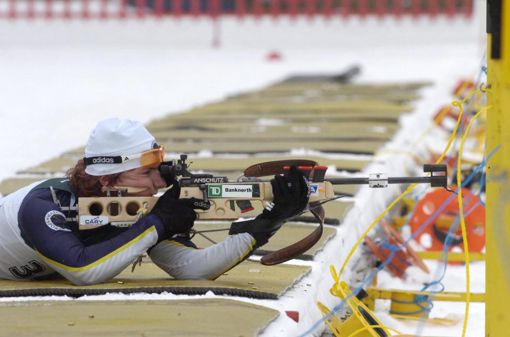 Russell Currier from Stockholm, Maine, was named to the U.S. biathlon team on Sunday.