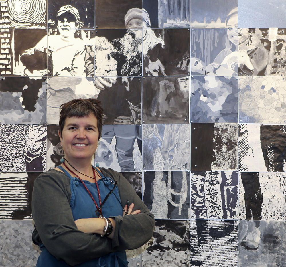 Susan Bickford, an artist and adjunct professor at the University of Maine-Augusta, started the portrait project after chronicling farmers' lives.