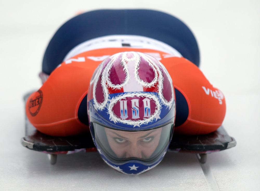 Noelle Pikus-Pace of the U.S. was selected Saturday to the U.S. women's skeleton team for the Sochi games next month.