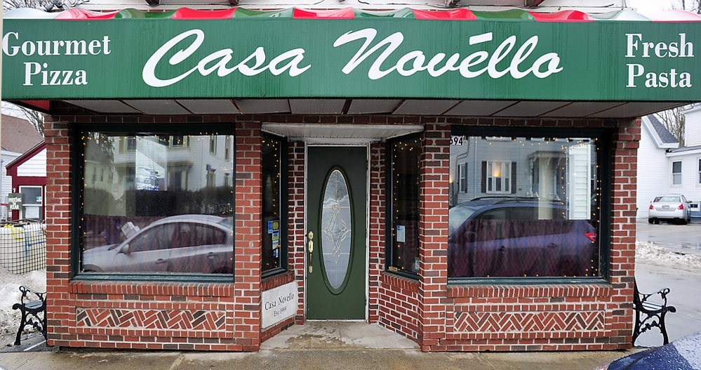 Exterior of Casa Novello restaurant in Westbrook