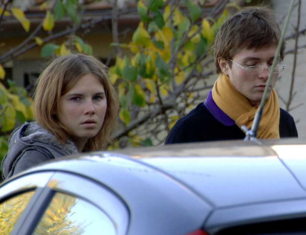 Amanda Knox and Raffaele Sollecito, her former boyfriend, in a 2007 photo.