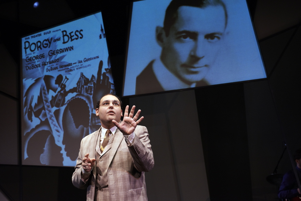 "Nicholas Mongiardo-Cooper portrays the famous lyricist in ""Words By: Ira Gershwin and the Great American Songbook"" by the playwright Joseph Vass. Mongiardo-Cooper is joined by two singers and a four-piece band."