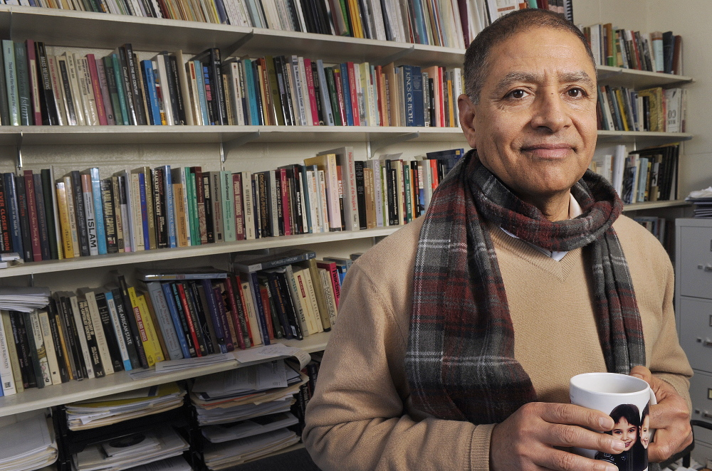 Ali Ahmida, a University of New England professor, is traveling to Libya this spring for his third United Nations mission. He is trying to help his native country transition to democracy after 40 years under the rule of Moammar Gadhafi.