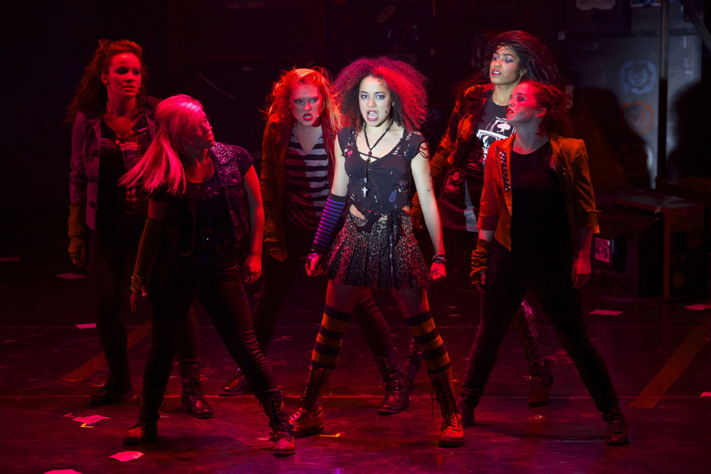 "Olivia Puckett (Whatsername) and the Ladies of ""American Idiot."""