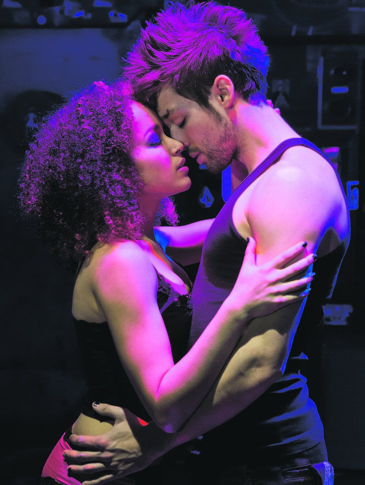 "Olivia Puckett (Whatsername) and Jared Nepute (Johnny) in ""American Idiot."""