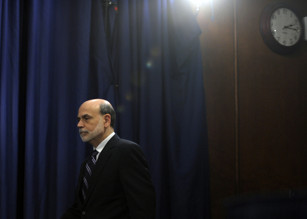 Federal Reserve Chairman Ben Bernanke presided over his final policy meeting Wednesday. He will step down Friday.