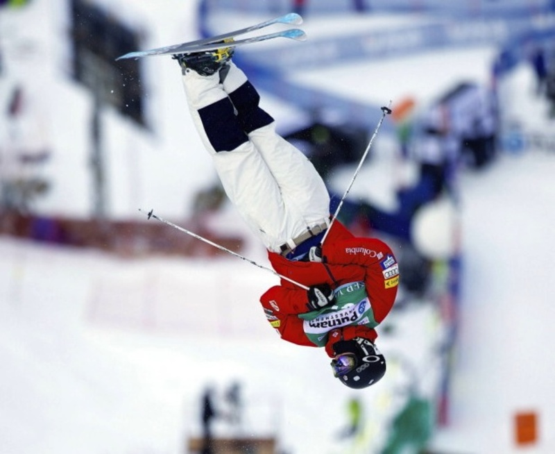 Troy Murphy of Bethel placed fifth at the World Cup moguls skiing event in Utah on Thursday.