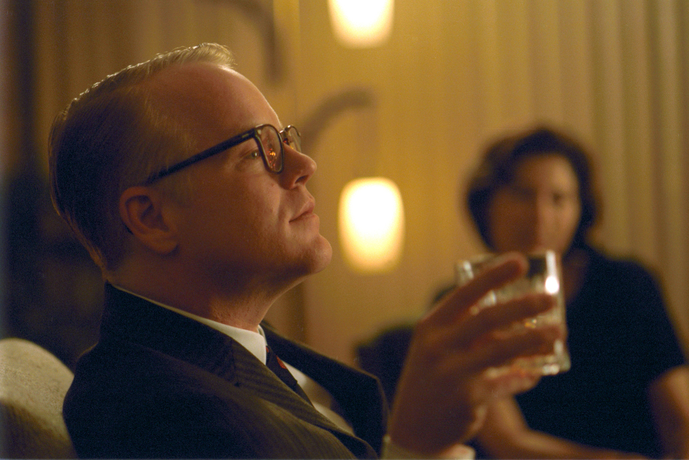 "Philip Seymour Hoffman as Truman Capote in ""Capote."""