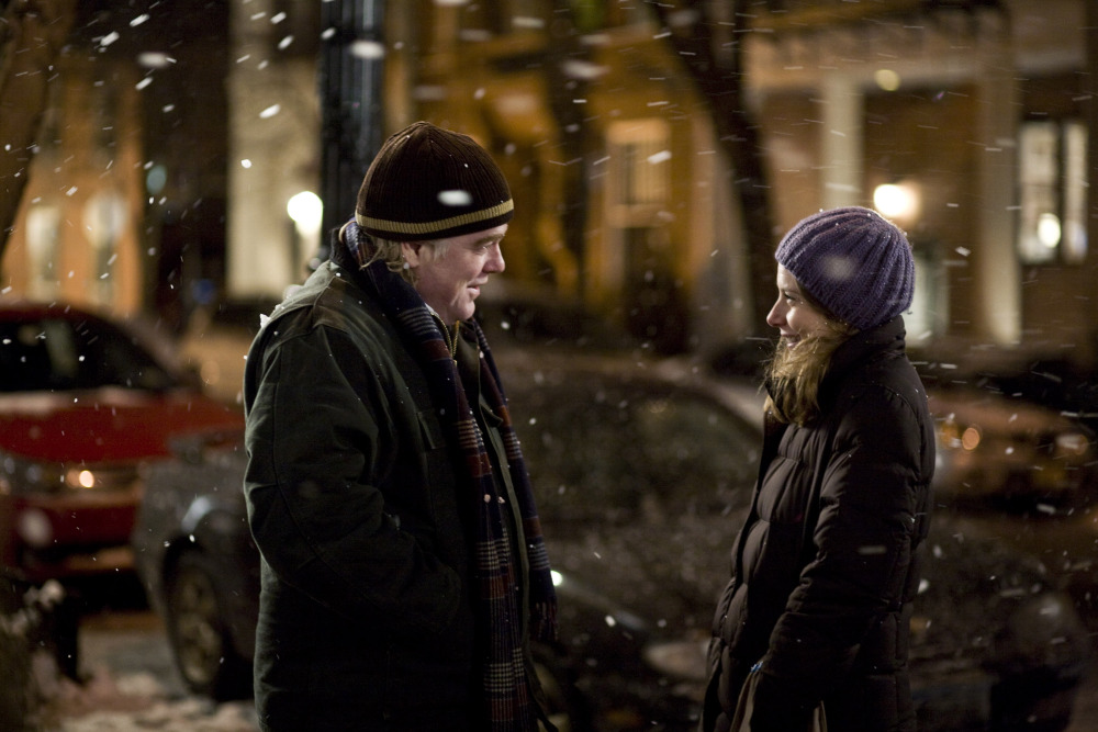 "Hoffman with Amy Ryan in a scene from ""Jack Goes Boating."""