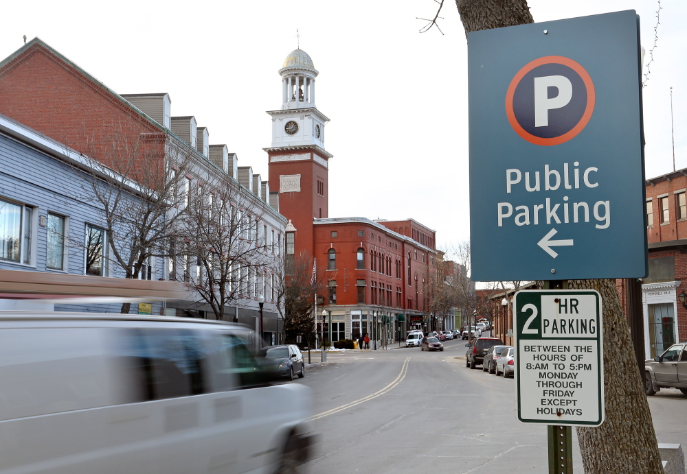 Parking in downtown Biddeford is limited to two hours, but there is no charge to park on the street or in the city's public parking lots.