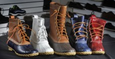 L.L. Bean now offers 55 versions of its iconic hunting boot in a variety of colors. All the Bean boots are made in Lewiston and Brunswick.