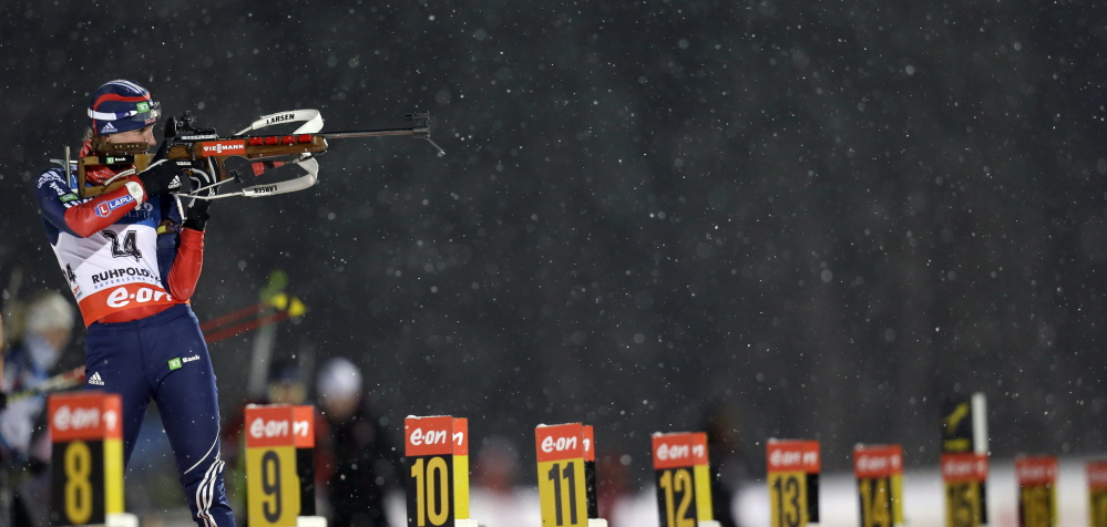 Annelies Cook is one of five athletes from the Maine Winter Sports Center on the 10 person U.S. Biathlon team at the Olympics.