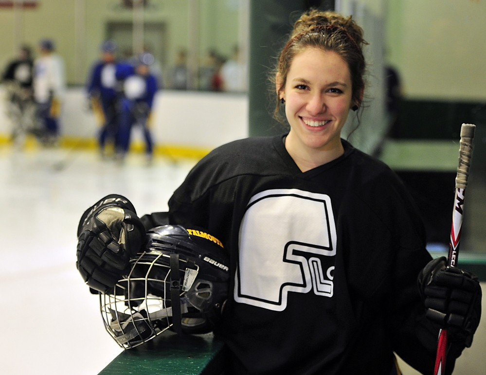 "Alyse Bazinet, a senior co-captain for the No. 2-ranked Falmouth girls' hockey team, said, ""I just love this team so much. We do so much together."""