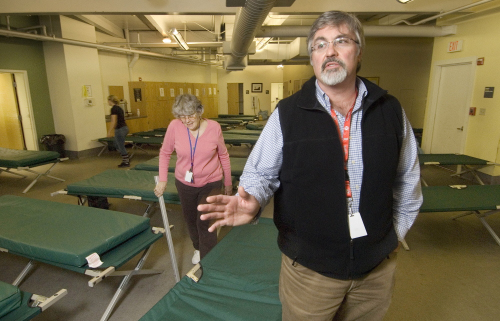 Mark Swann is executive director of Preble Street, which includes Portland's homeless shelter. The health clinic has been located close to Preble Street, which enables easy access.