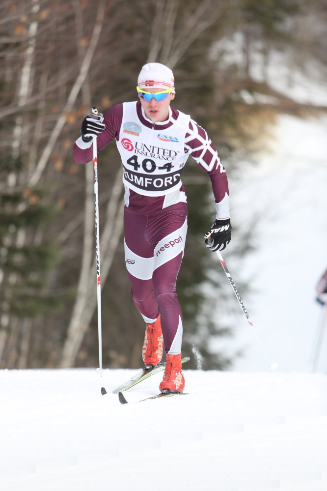 Freeport High senior Eli McCurdy, a classical skier, admits there's brotherly competition with Forrest, but the two are each other's biggest supporters.