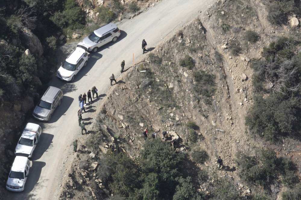 This photo shows the scene of a shooting by a U.S. Border Patrol agent near San Diego on Tuesday. The agent says he feared for his life when the victim threw rocks at him.