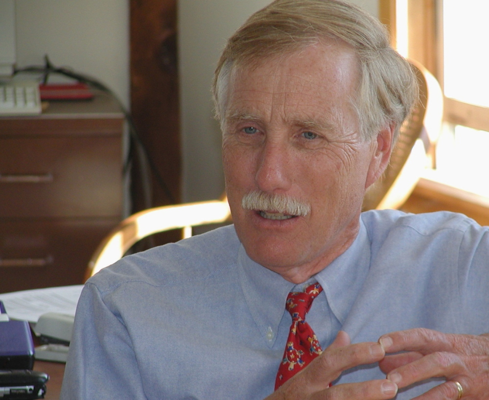 Maine Sen. Angus King returned home Thursday from the Mideast, where he visited Lebanon, Israel and the West Bank.