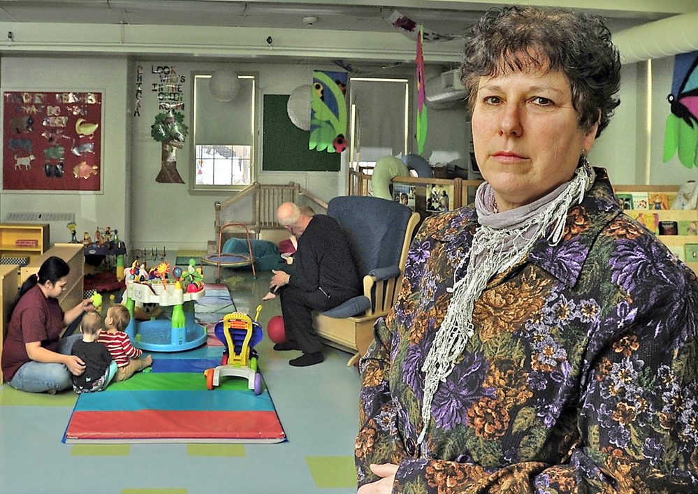 "Lori Moses, executive director of the Catherine Morrill Day Nursery in Portland, said the DHHS error forced parents to put their lives on hold. ""This is about whether they can accept work or not,"" she said."