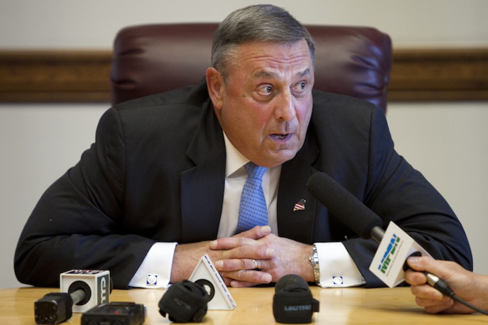 Gov. LePage made clear in an email this week that he won't issue voter-approved bonds because the Legislature is defying him about how best to fill a $40 million gap in the current budget.