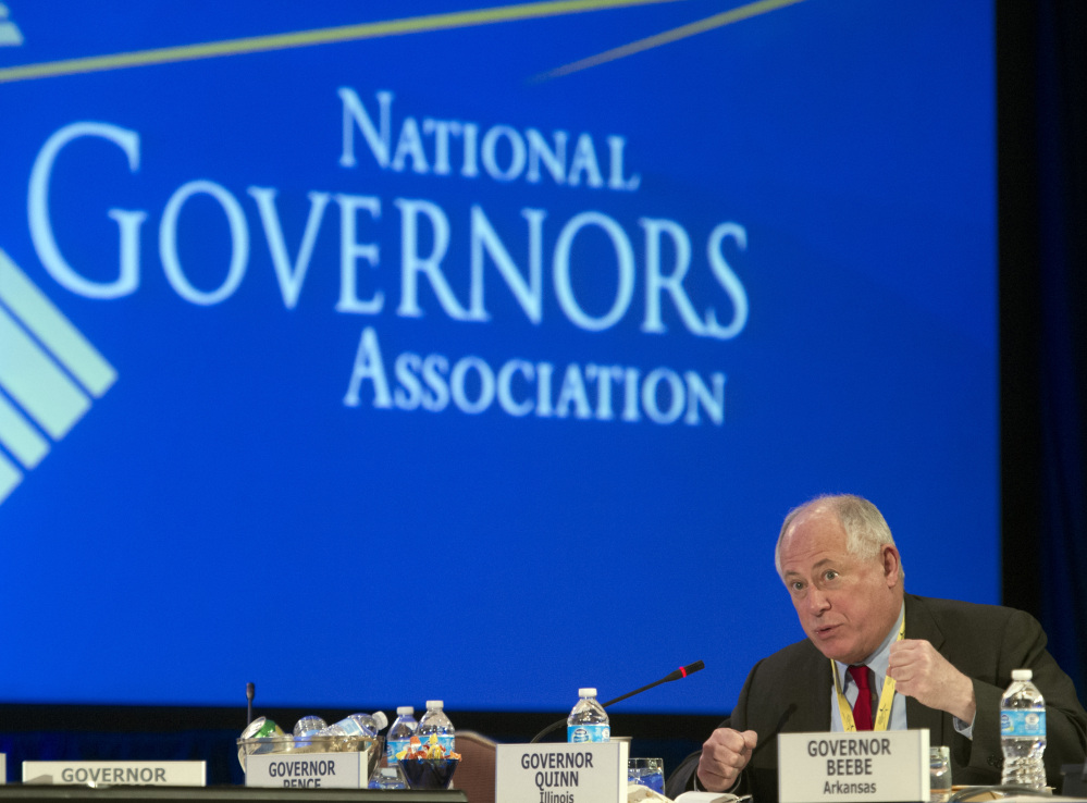 Illinois Gov. Pat Quinn participates in a special session on jobs in America during the National Governor's Association Winter Meeting in Washington on Sunday.