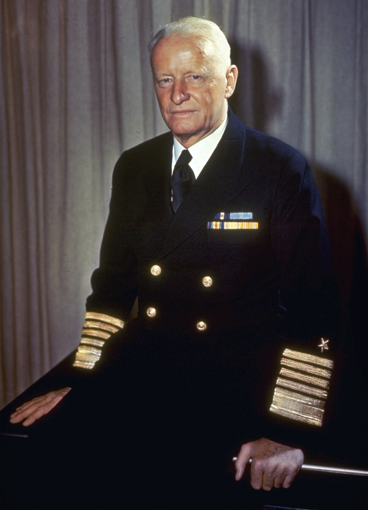 Adm. Chester W. Nimitz commanded U.S. Naval forces in the Pacific during World War II.