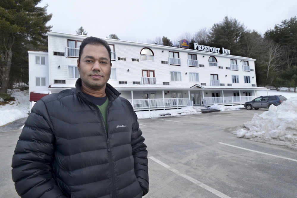 Seanu Anne is manager of the Freeport Inn where carbon monoxide detectors are being used. Photographed Tuesday, February 25, 2014.