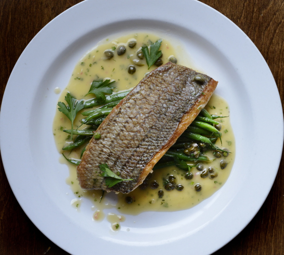 """Poisson Meuniere at Petite Jacqueline in Portland is """"a near-perfect dish,"""" according to chef Tim Labonte of the Portland Harbor Hotel."""