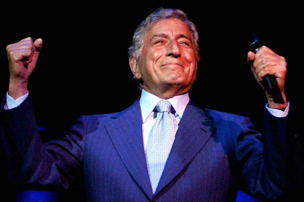 Tony Bennett performs at Merrill Auditorium in Portland on April 19. Tickets go on sale Friday.