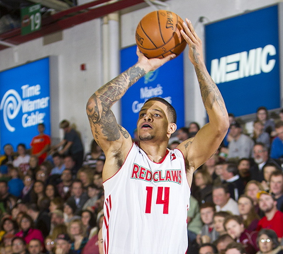 Chris Babb, pictured shooting against the Fort Wayne Mad Ants on Jan. 25, is the Red Claws' minutes leader and an all-around presence for the team.