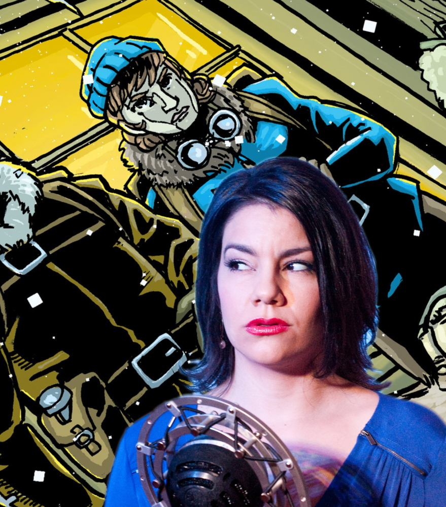 "Portland Ovations presents ""The Intergalactic Nemesis,"" billed as a mash-up of a vintage radio play, live action graphic novel and sci-fi B-movie, on Thursday at Merrill Auditorium in Portland."