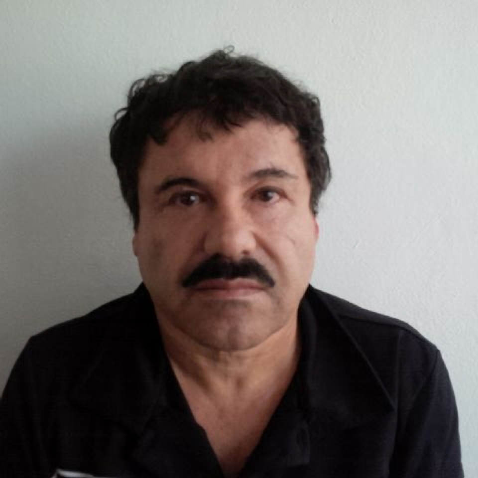"""In this Feb. 22, 2014, image released by Mexico's Attorney General's Office, Joaquin """"El Chapo"""" Guzman is photographed against a wall after his arrest in the Pacific resort city of Mazatlan, Mexico."""