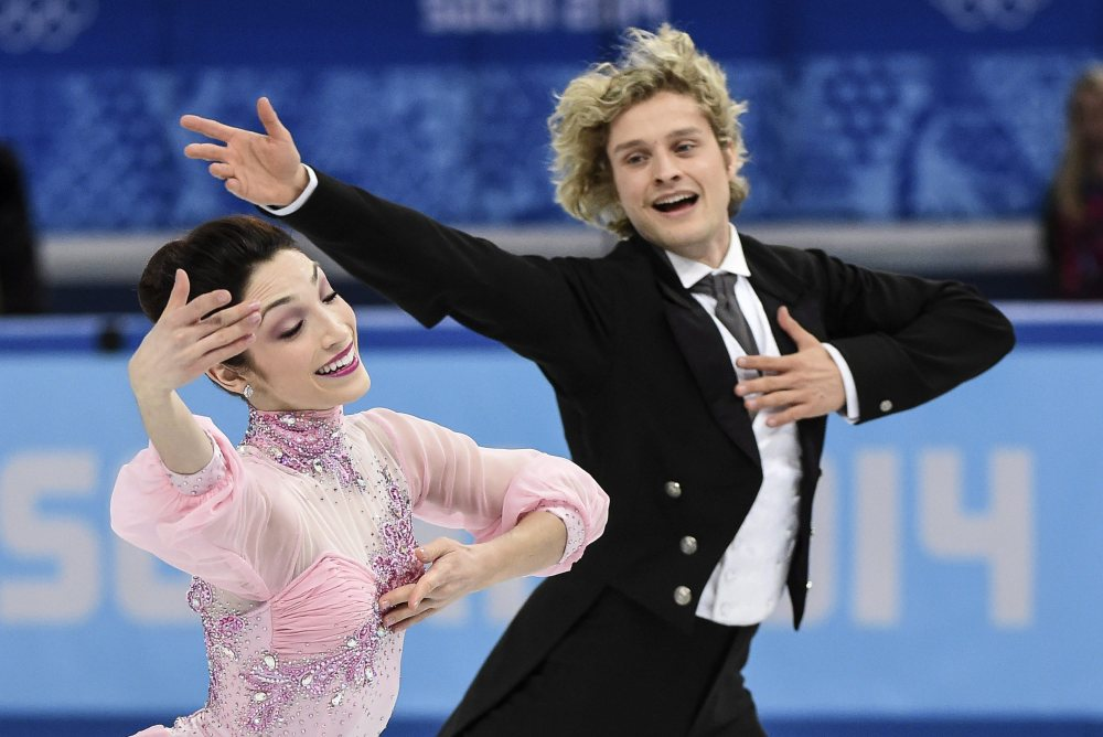 Meryl Davis and Charlie White of the United States compete in the ice dance short dance figure skating competition at the Iceberg Skating Palace during the Winter Olympics in Sochi, Russia, on Feb. 16.