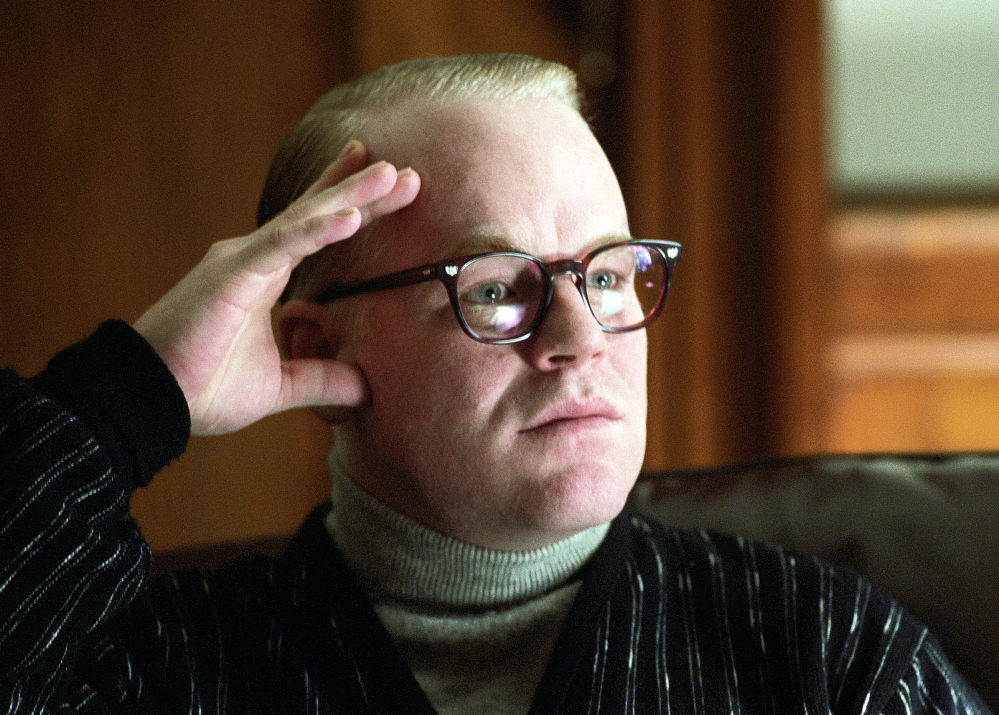"Philip Seymour Hoffman is shown in his portrayal of Truman Capote in a scene from the film ""Capote."" The Oscar-winning actor died accidentally as a result of mixing drugs, a medical examiner has found."