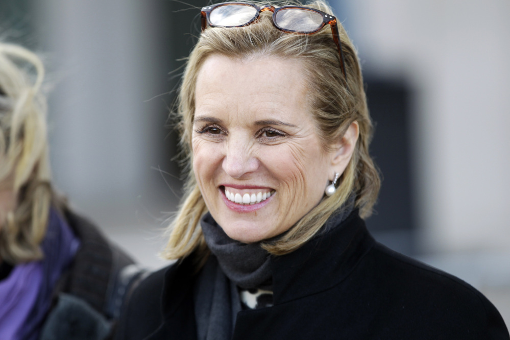 Kerry Kennedy leaves Westchester County courthouse in White Plains, N.Y., in this Feb. 26, 2014, photo.