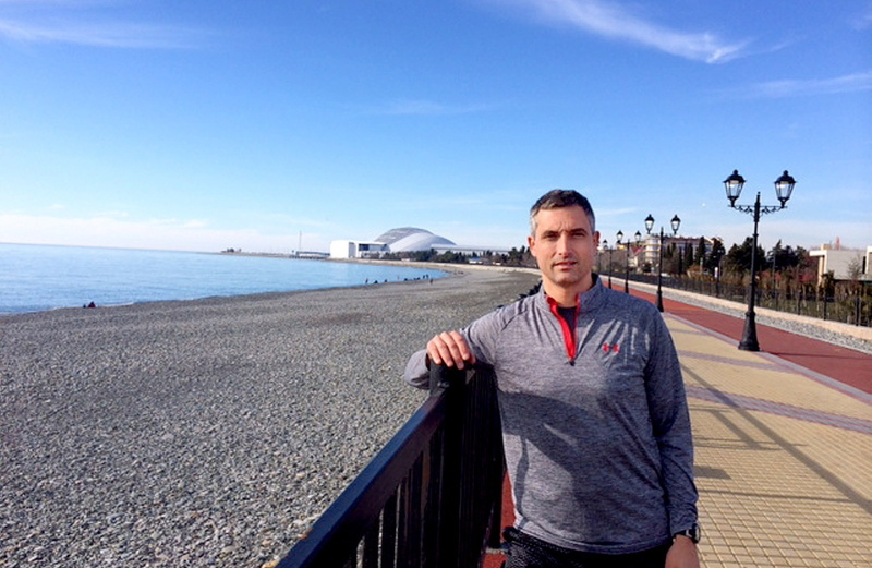 Peter Carlisle of Cape Elizabeth, pictured in Sochi, said the sentiment is growing more positive by the day.
