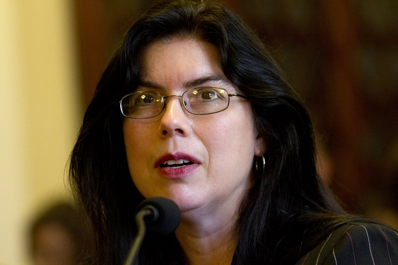 In this 2012 file photo, Ruth Moore of Milbridge, Maine, who was raped twice while serving in the Navy, testifies at a Veterans Affairs subcommittee on Disability Assistance and Memorial Affairs. A provision in proposed legislation – named for Moore – would make it easier for veterans who were sexually assaulted while serving in the military to qualify for disability benefits.