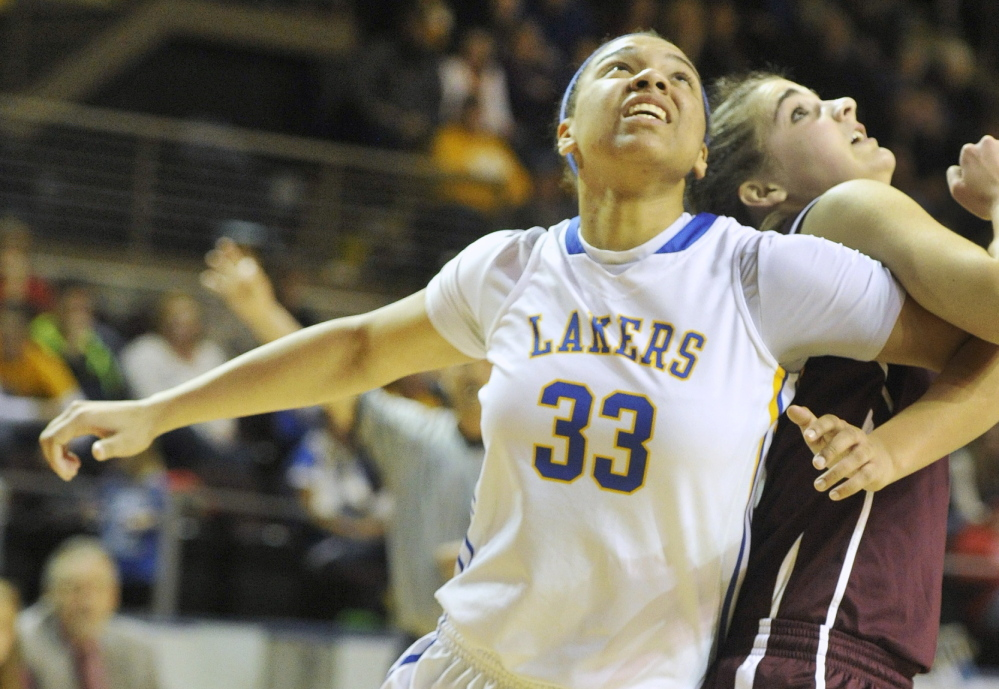 Tiana-Jo Carter of Lake Region is a finalist for the state's top basketball award.