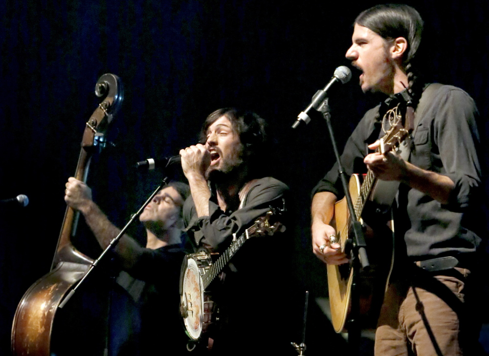 The Avett Brothers perform at the Cumberland County Civic Center on Monday.