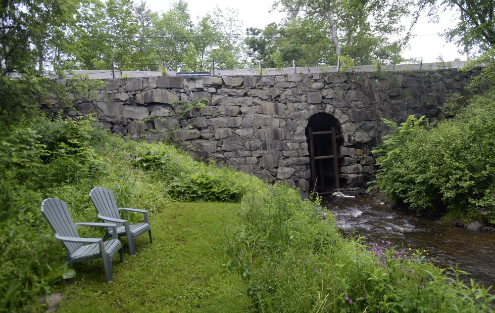 The Stackpole Bridge, built of dry-laid stone in 1848, is believed to be one of the oldest stone bridges on a public road in Maine. It has been closed to traffic for nearly two years because of safety concerns.